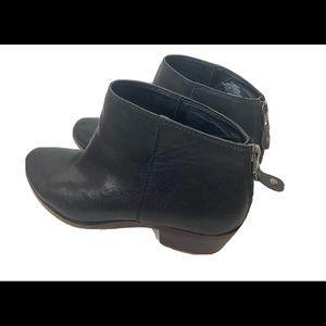 Lucky Brand Womens BREMMA  Black Leather booties